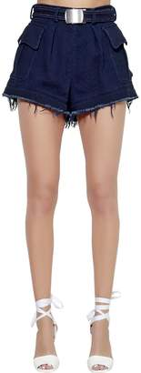 Philosophy di Lorenzo Serafini High Waist Japanese Cotton Denim Shorts