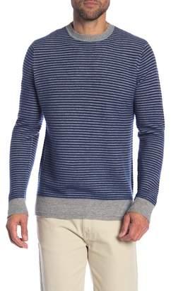 Quinn Ottoman Cashmere Stripe Crew Neck Sweater