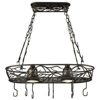 Loon Peak Easton Lighted Hanging Pot Rack