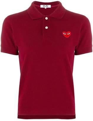 Comme des Garcons logo patch polo shirt