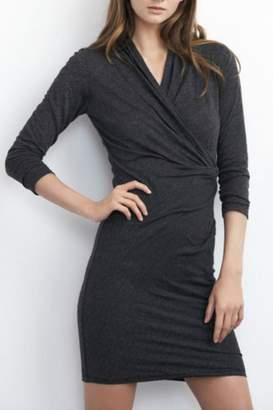 Velvet Knit Crossover Dress