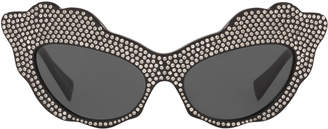 cf5168f5e3 Aureta Scalloped Cat-Eye Swarovski Crystal Sunglasses