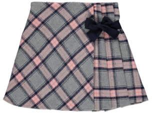 George Check Print Pleated Skirt