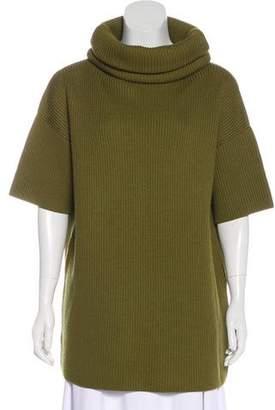 Christian Dior Cowl Neck Short Sleeve Sweater