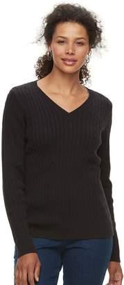 Croft & Barrow Petite V-Neck Lightweight Sweater