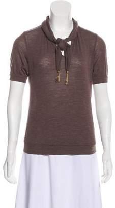 Louis Vuitton Short Sleeve Wool Top