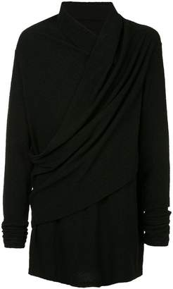 Julius draped long-sleeve T-shirt