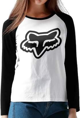 Fox Racing GUOZX Women's Logo T-Shirts Long Sleeve T Shirt M