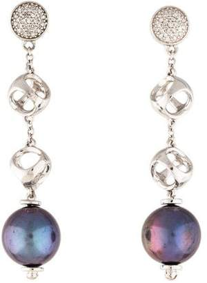 Di Modolo Icona Black Pearl & Diamond Drop Earrings