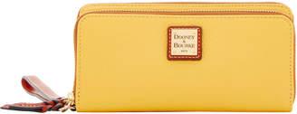 Dooney & Bourke Pebble Grain Double Zip Wallet