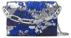 Michael Kors Yasmeen Metallic Leather Clutch