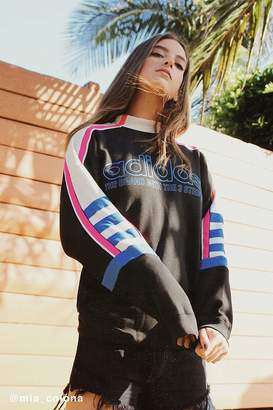 adidas Mock-Neck Moto Sweatshirt