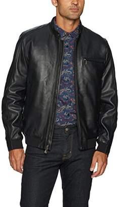 Robert Graham Men's Massena Woven Leather Jacket