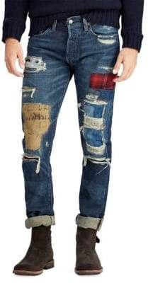 Polo Ralph Lauren Slim-Fit Washed Five-Pocket Jeans