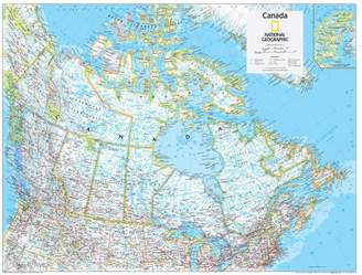 Art.com 2014 Canada Political - National Geographic Atlas of the World, 10th Edition Poster By National Geographic Maps - 61x81 cm