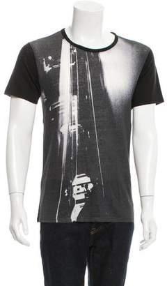 IRO Abstract Print Linen T-Shirt