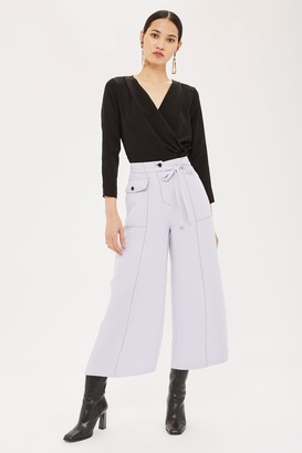 Topshop Womens Contrast Stitch Trousers - Lilac