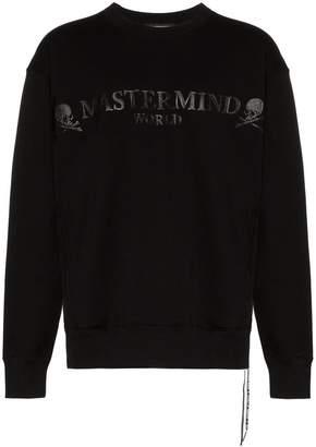 Mastermind Japan logo and skull motif cotton sweatshirt