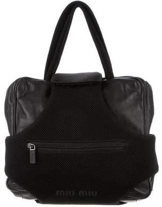 Miu Miu Convertible Leather Backpack