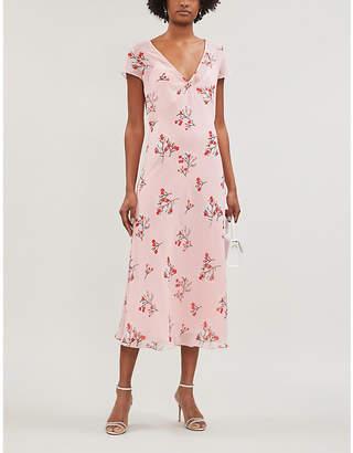 Selfridges Bernadette Zoe floral-print crepe midi dress