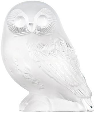 Lalique Clear Shivers Owl Figure