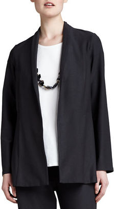 Eileen Fisher Long Washable Crepe Shawl-Collar Jacket, Petite $218 thestylecure.com