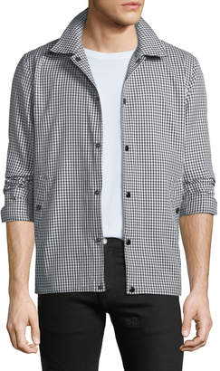 Rag & Bone Men's Gingham Water-Resistant Coach Jacket