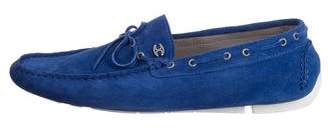 Just Cavalli Suede Round-Toe Loafers w/ Tags