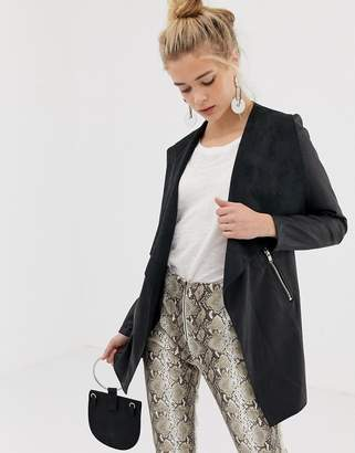 New Look faux leather waterfall jacket
