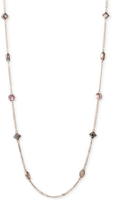 "DKNY Gold-Tone Crystal 42"" Strand Necklace"