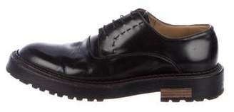 Fendi Leather Platform Derby Shoes