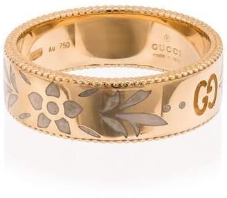 Gucci 18k yellow gold Icon motif ring
