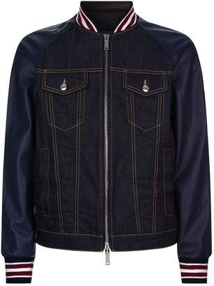 DSQUARED2 Multi-Textured Bomber Jacket