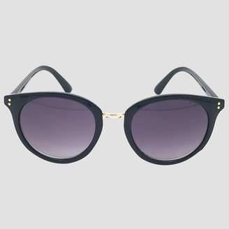 A New Day Women's Round Sunglasses Black