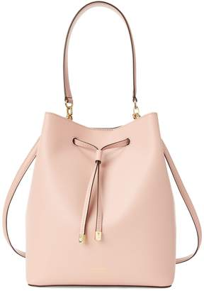 Lauren Ralph Lauren Leather Drawstring Bucket Bag