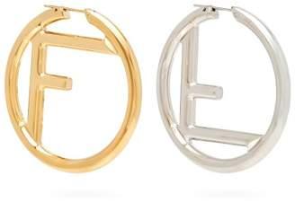 Fendi - Mismatches Ff Hoop Earrings - Womens - Gold