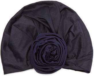 JULIA CLANCEY Edith reversible silk turban hat