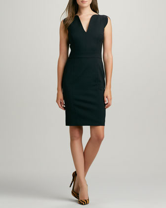 French Connection Lolo Cap-Sleeve Classic Dress