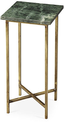 """One Kings Lane Brooklyn 21"""" Side Table - Marble/Gold"""