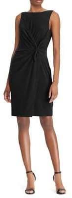 Lauren Ralph Lauren Petite Twist-Front Sleeveless Dress
