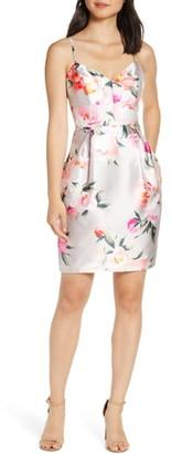 Eliza J Floral Print Cocktail Dress