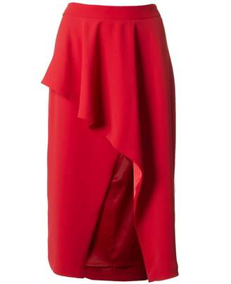 Ted Baker Daffnie Frill Front Midi Skirt