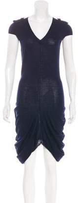 Alexander McQueen Wool Asymmetrical Dress
