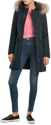 Woolrich Down Parka with Fur-Trimmed Hood $639 thestylecure.com