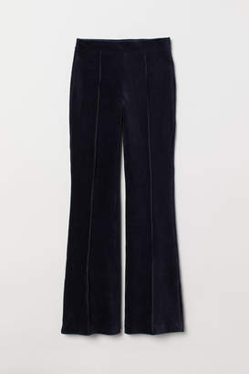 H&M Flared Corduroy Pants - Blue
