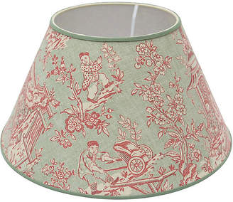 One Kings Lane Vintage Custom Toile Linen Lampshade - Rose Victoria