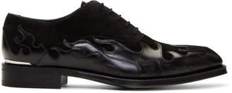 Alexander McQueen Black Leather Oxfords