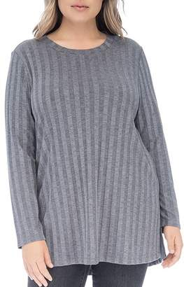 Bobeau B Collection by Curvy Alex Ribbed Tunic Tee