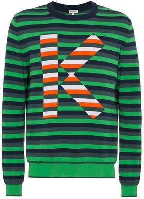 Kenzo striped logo jumper