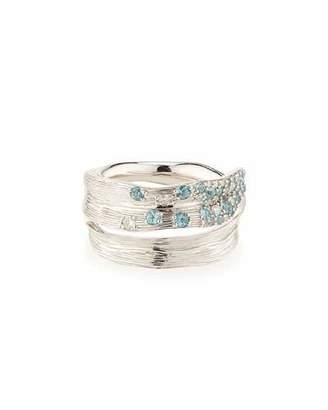 Michael Aram Pavé Sky Blue Topaz & Diamond Ring, Size 7